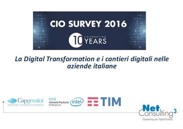 La Digital Transformation e i cantieri digitali nelle aziende italiane