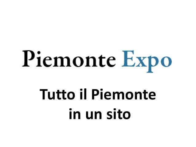 Tutto il Piemonte in un sito