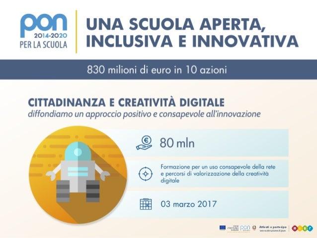 www.istruzione.it/pon Attivati e partecipa