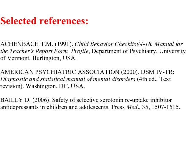 Mood disorders in preschool and primary school children