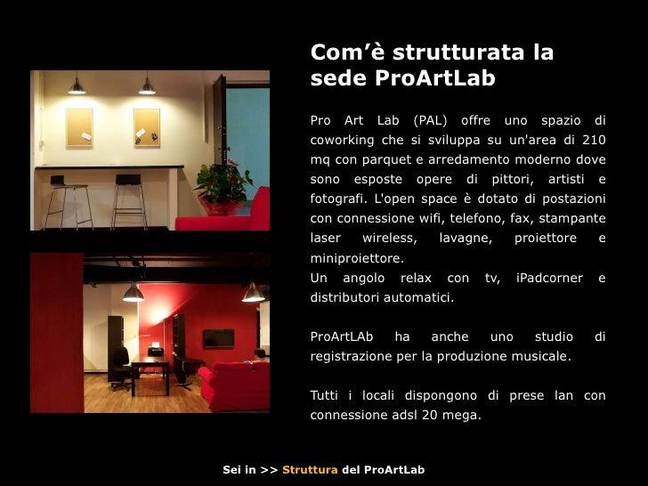 Proartlab music coworking open space for Megauno civitanova arredamento