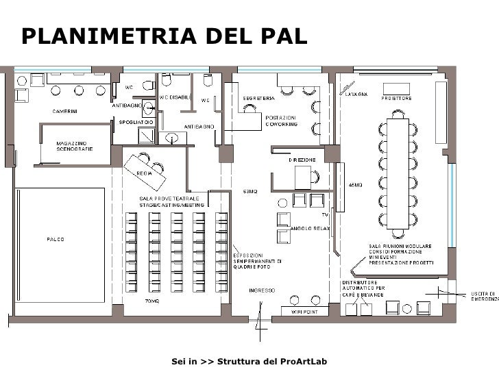 Proartlab music coworking open space for Open space planimetria del condominio