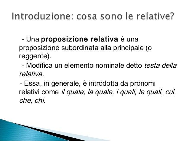 Accettabilità di frasi relative Slide 2