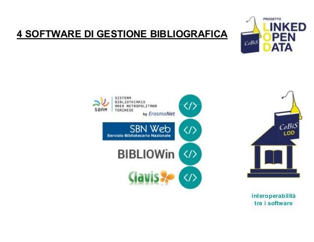 4 SOFTWARE DI GESTIONE BIBLIOGRAFICA interoperabilità tra i software
