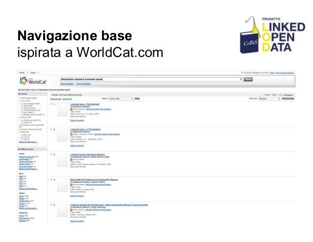 Navigazione base ispirata a WorldCat.com