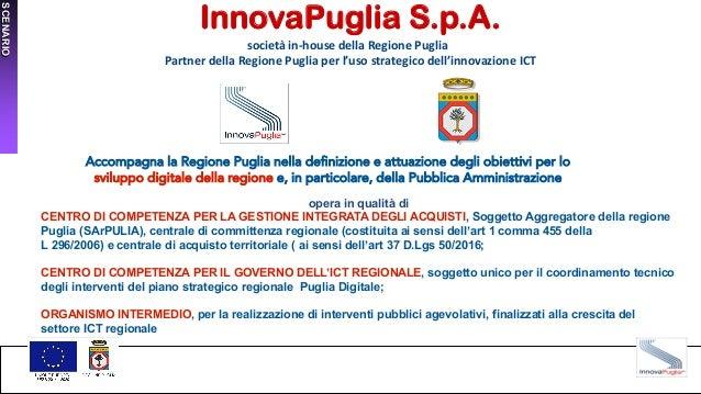 InnovaPuglia S.p.A. società in-house della Regione Puglia Partner della Regione Puglia per l'uso strategico dell'innovazio...
