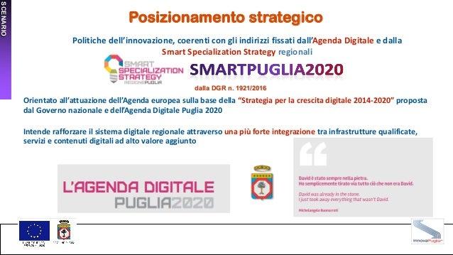 SCENARIO Posizionamento strategico Politiche dell'innovazione, coerenti con gli indirizzi fissati dall'Agenda Digitale e d...