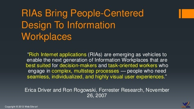 Web Site and Rich Internet Applications Slide 2