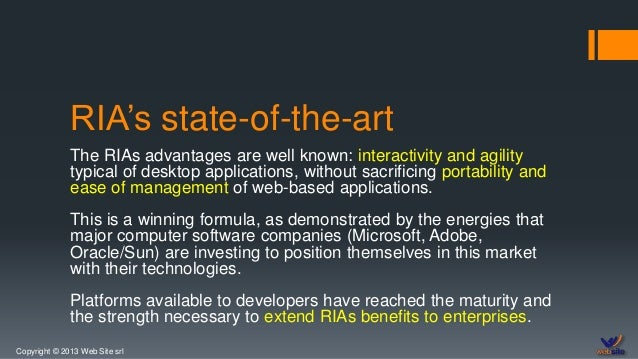 Web Site and Rich Internet Applications Slide 3