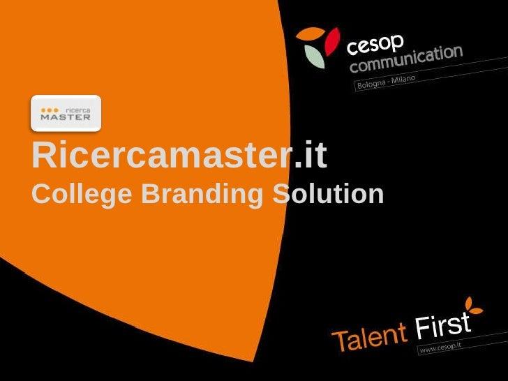 Ricercamaster.it College Branding Solution