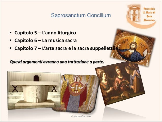 sacrosanctum concilium Tonight's outline sacrosanctum concilium & the liturgy what is liturgy vatican ii reform active participation a breakdown of the mass sacred music.