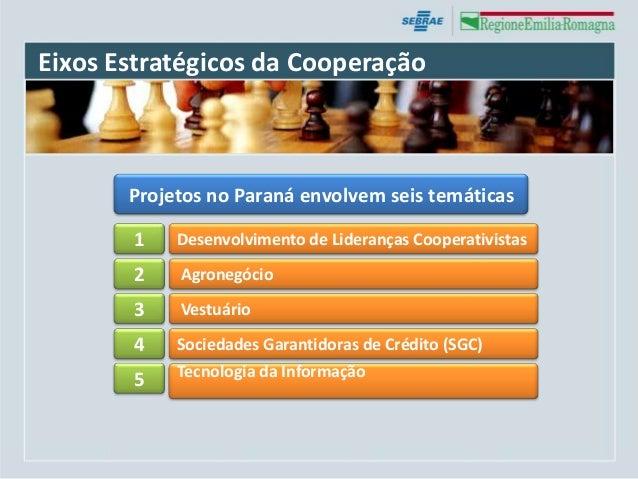 Eixos Estratégicos da Cooperação       Projetos no Paraná envolvem seis temáticas       1    Desenvolvimento de Lideranças...