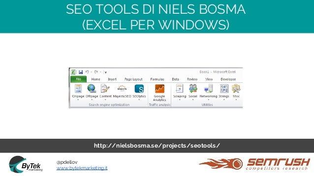 Seo Tools For Excel Niels Bosma