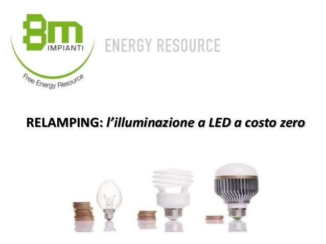 Relamping l 39 illuminazione a led a costo zero for Lampadine led costo