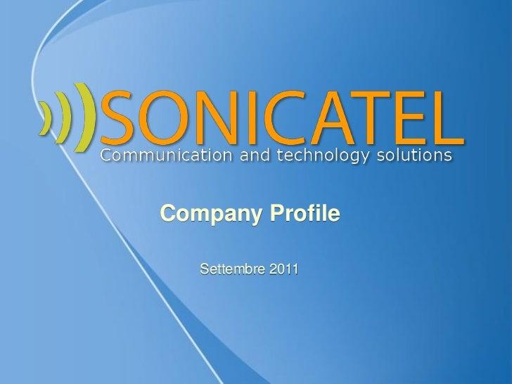 Company Profile   Settembre 2011