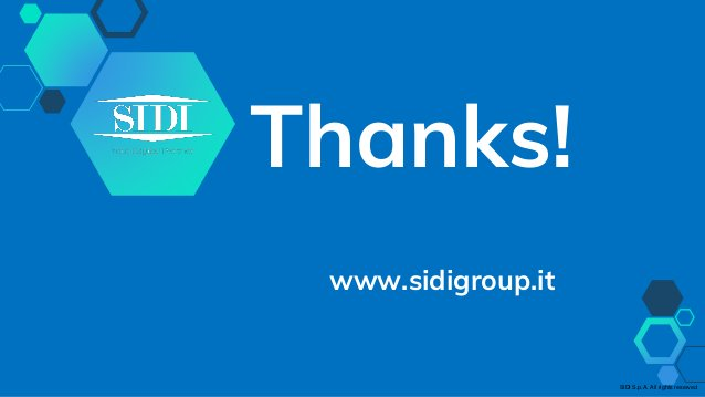 Thanks! www.sidigroup.it SIDI S.p.A. All rights reserved