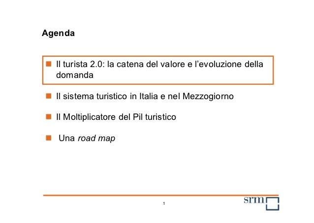 Agenda Il turista 2.0: la catena del valore e l'evoluzione della  domanda Il sistema turistico in Italia e nel Mezzogior...