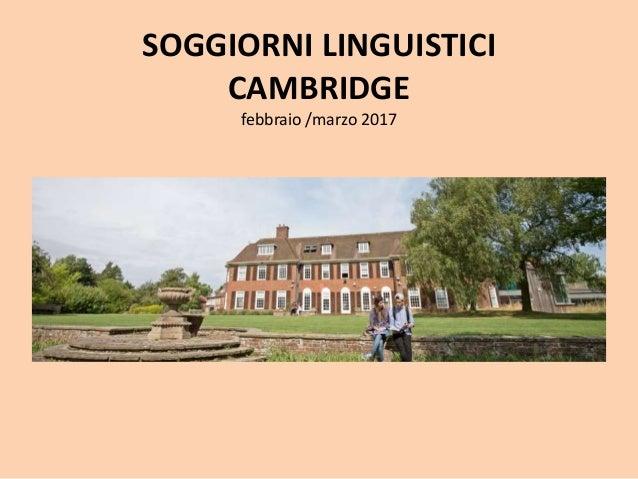 Presentazione stage linguistici