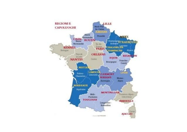 Cartina Politica Francia Con Regioni E Capoluoghi.Francia Regioni E Capoluoghi