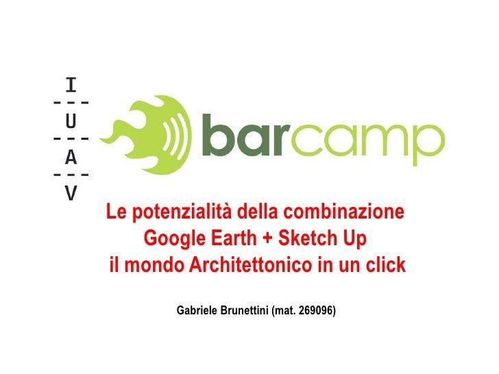 IUAV – Corso di Informatica e Disegno Digitale – Prof. Maurizio Galluzzo<br />Le potenzialità della combinazione<br />Goog...