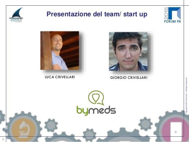 Copyright©2015Arsenàl.IT–AllRightsReserved 1 Presentazione del team/ start up LUCA CRIVELLARI GIORGIO CRIVELLARI