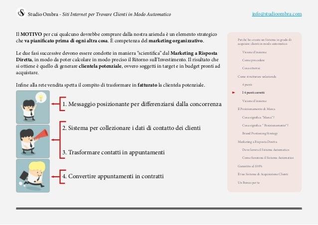 Siti internet per trovare clienti in modo automatico for Clienti sinonimo
