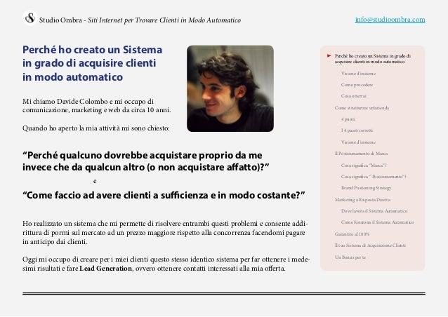 Trovare nuovi clienti: il sistema per generare contatti in modo automatico Slide 2