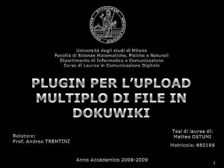 Università degli studi di Milano<br />Facoltà di Scienze Matematiche, Fisiche e Naturali<br />Dipartimento di Informatica ...