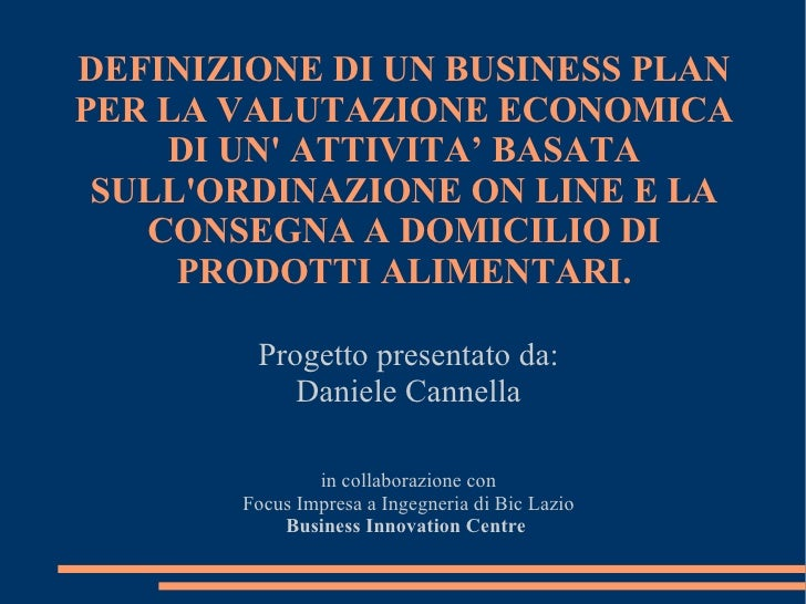 modello business plan pizzeria asporto