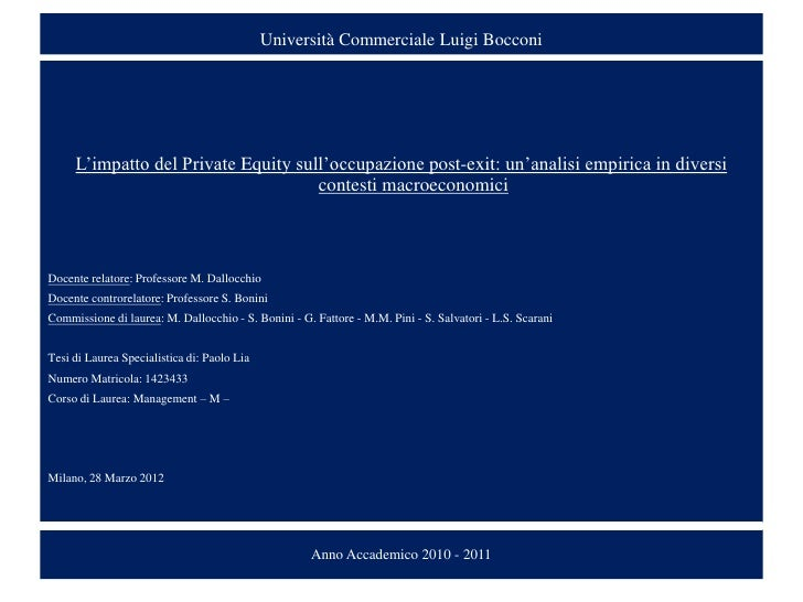 Bocconi master thesis
