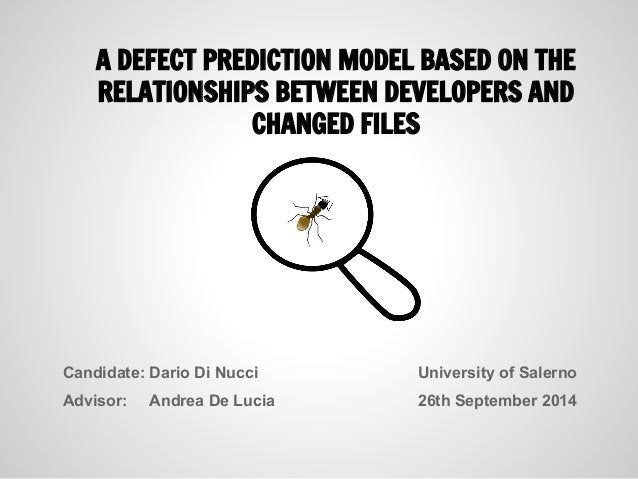 A defect prediction model based on the relationships between