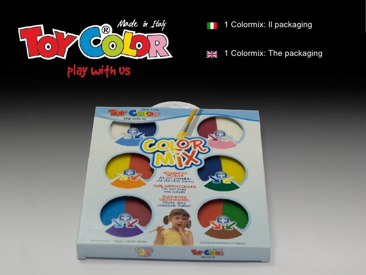 1 Colormix: Il packaging   1 Colormix: The packaging