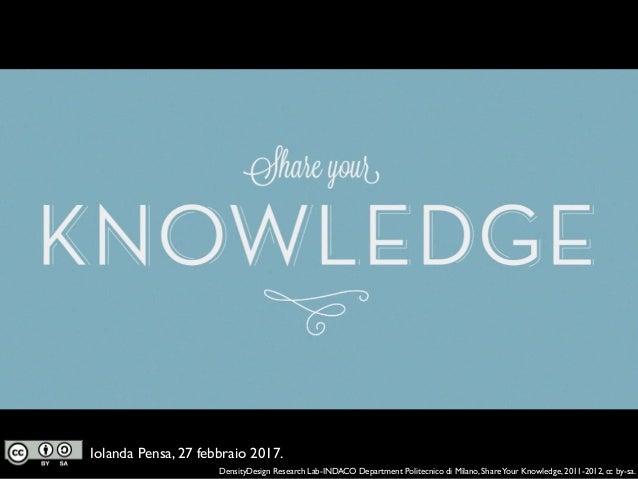 Il sapere Open Access: riflessioni