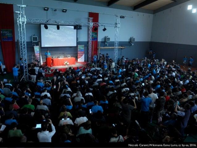 Niccolò Caranti,Wikimania Esino Lario, cc by-sa, 2016.