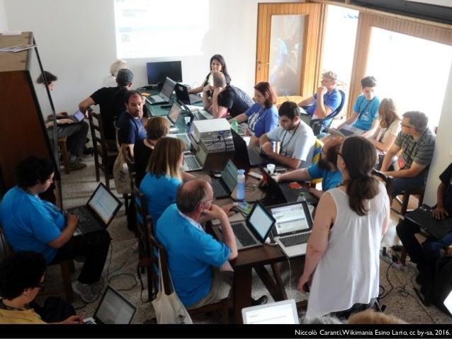 Iolanda Pensa, Planning Wikimania Esino Lario, cc by-sa, 2016.