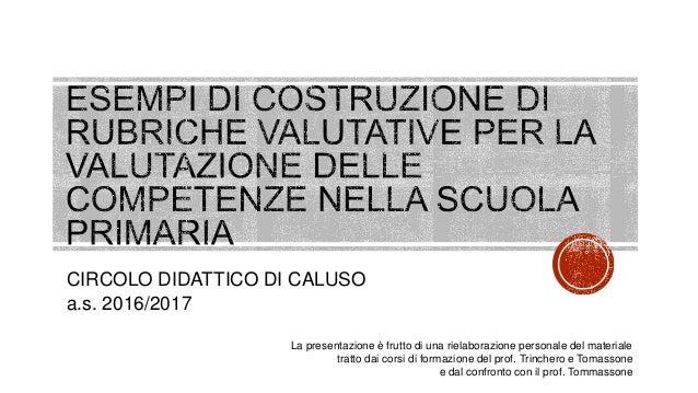 CIRCOLO DIDATTICO DI CALUSO a.s. 2016/2017 La presentazione è frutto di una rielaborazione personale del materiale tratto ...