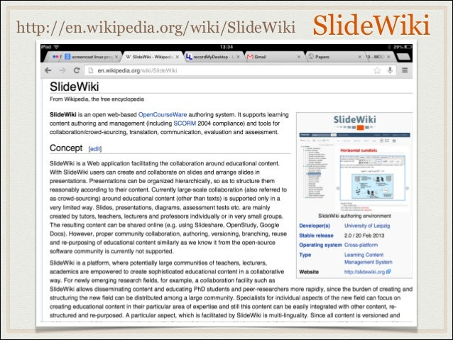 SlideWikihttp://en.wikipedia.org/wiki/SlideWiki