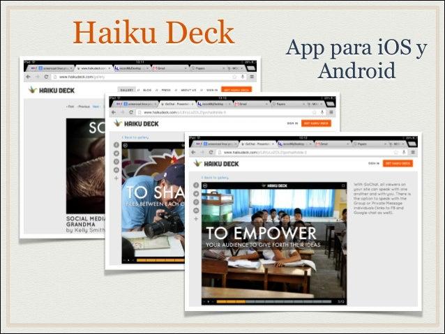 Haiku Deck App para iOS yAndroid