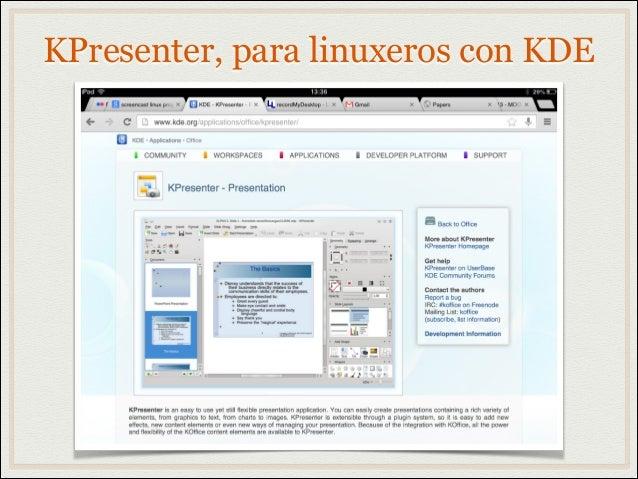 KPresenter, para linuxeros con KDE
