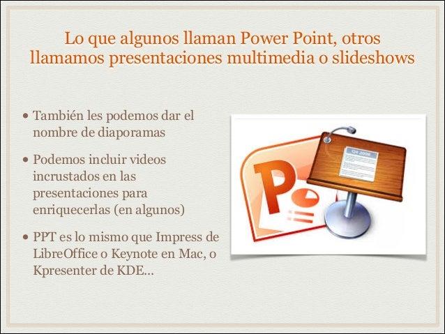 Programas para slideshows Slide 2