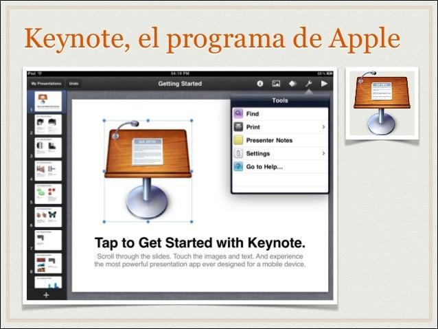 Keynote, el programa de Apple