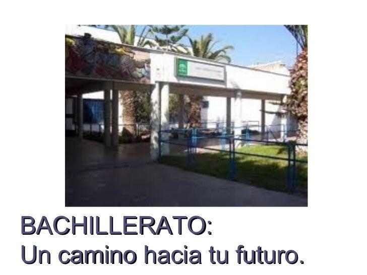 BACHILLERATO:Un camino hacia tu futuro.