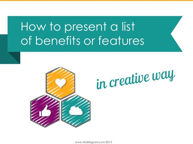 www.infoDiagram.com 2015 How to present a list of benefits or features