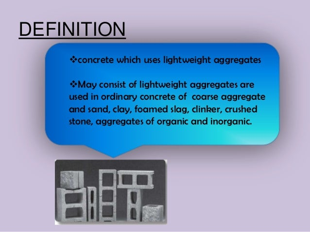 lightweight concreteDEFINITION concrete ...