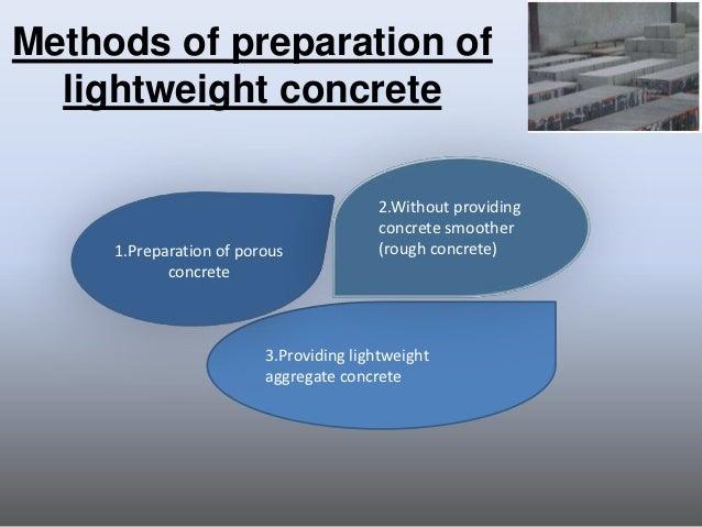 Make Lightweight Concrete : Lightweight concrete
