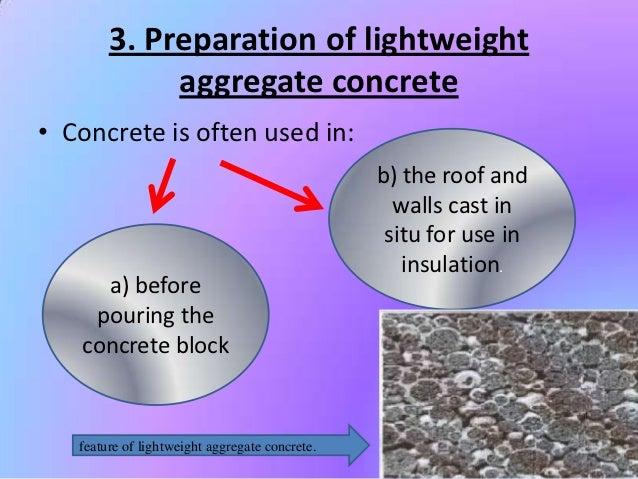 Light Concrete Mix : Lightweight concrete