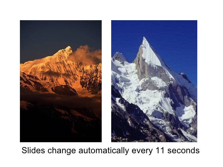 Slides change automatically every 11 seconds
