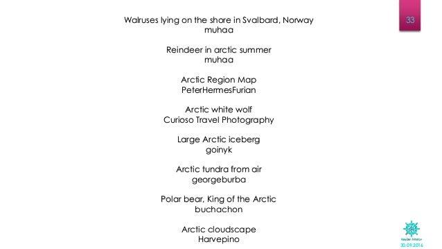30.09.2016 33Walruses lying on the shore in Svalbard, Norway muhaa Reindeer in arctic summer muhaa Arctic Region Map Peter...