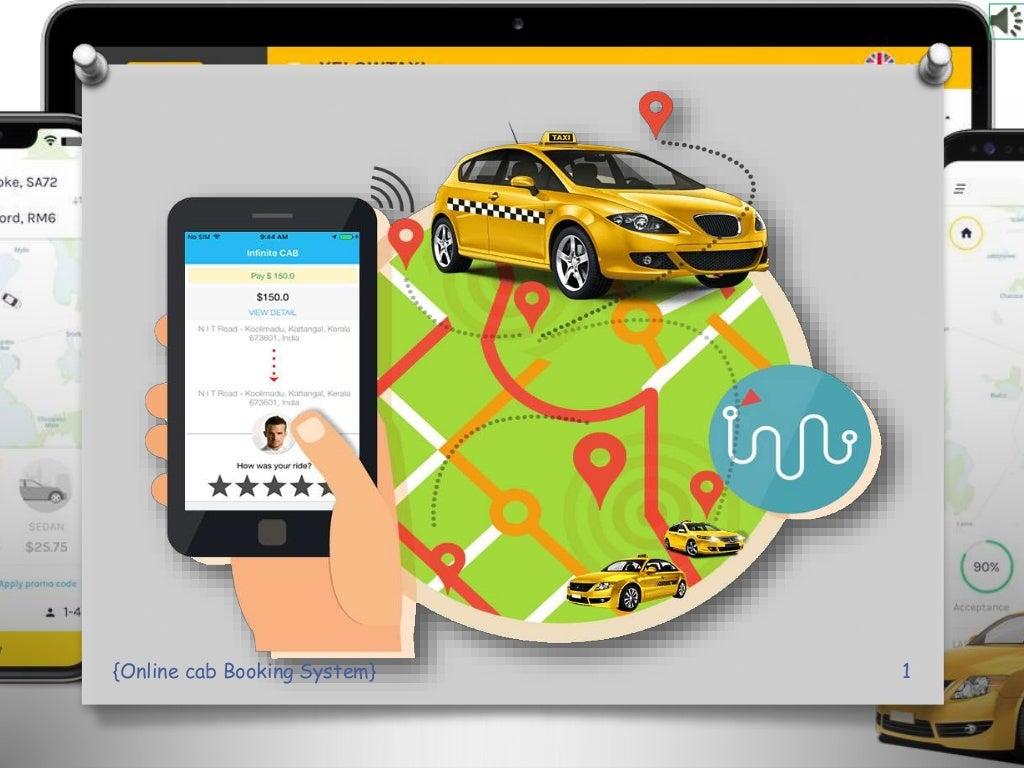 online Cab Booking System PPT Presentation