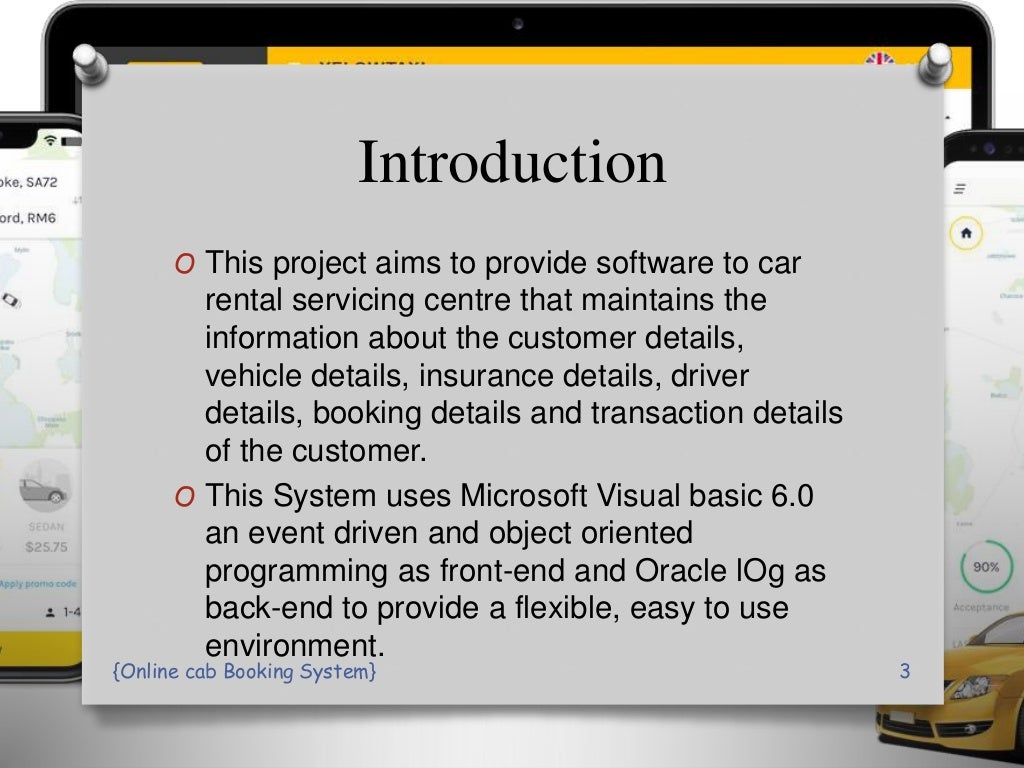 online Cab Booking System PPT Presentation page 3
